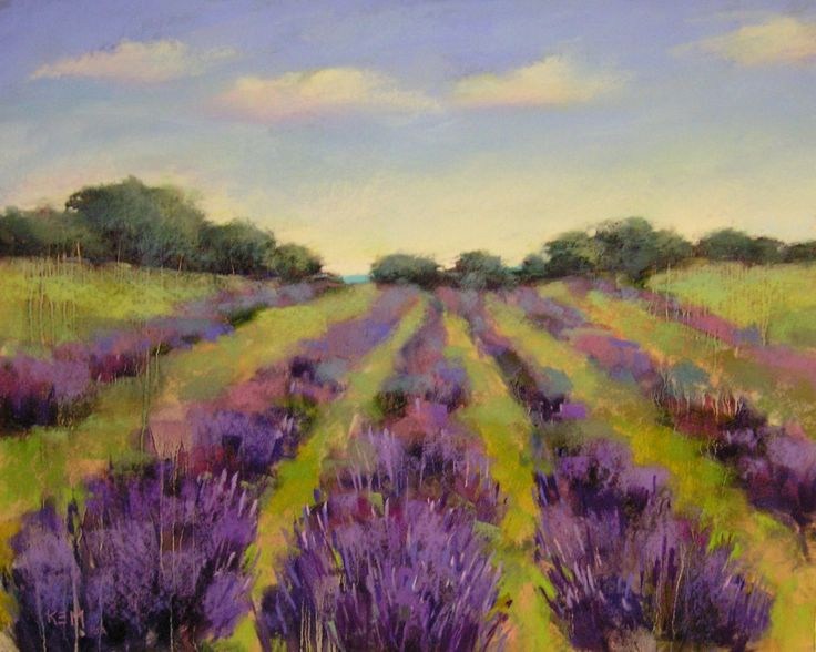 Reminds me of Sequim, WA where lavender and ocean coexist,  Artists in Pastel…