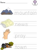 Jesus Heals Leprosy Picture Clue Read and Trace worksheets
