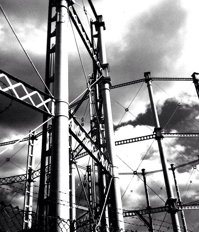 Gas towers, Salford 2010 (iPhone)
