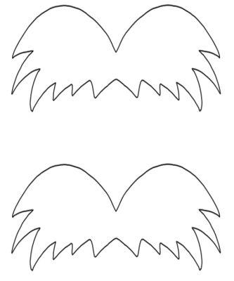 The lorax mustache template