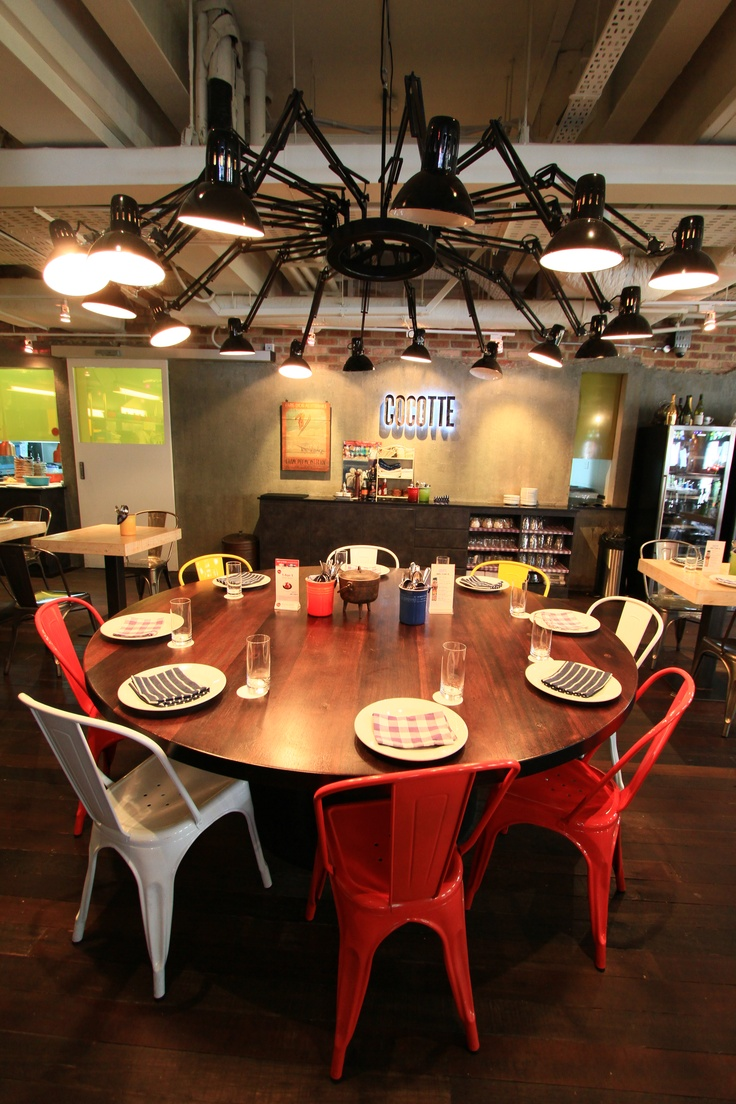Quirky restaurant called Cocotte, at Wanderlust Hotel, Singapore