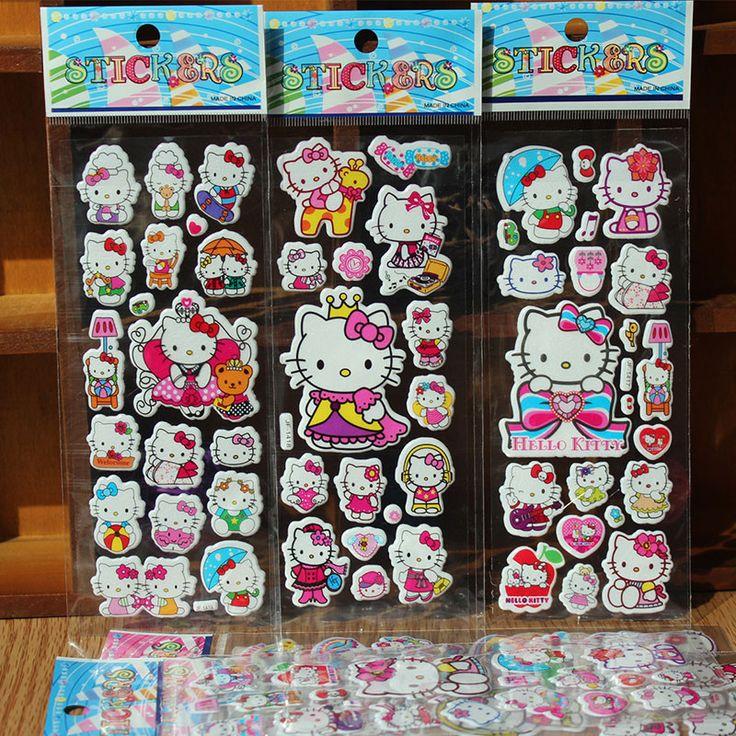 5pcs/lot 3D Baby Nursery bubble Stickers Kids boys girls Foam Cartoon DIY Stickers Cute Puffy Children toys Stickers