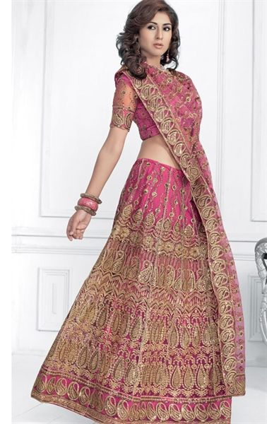Picture of Stylish Pink color Designer Wedding Lehenga Choli