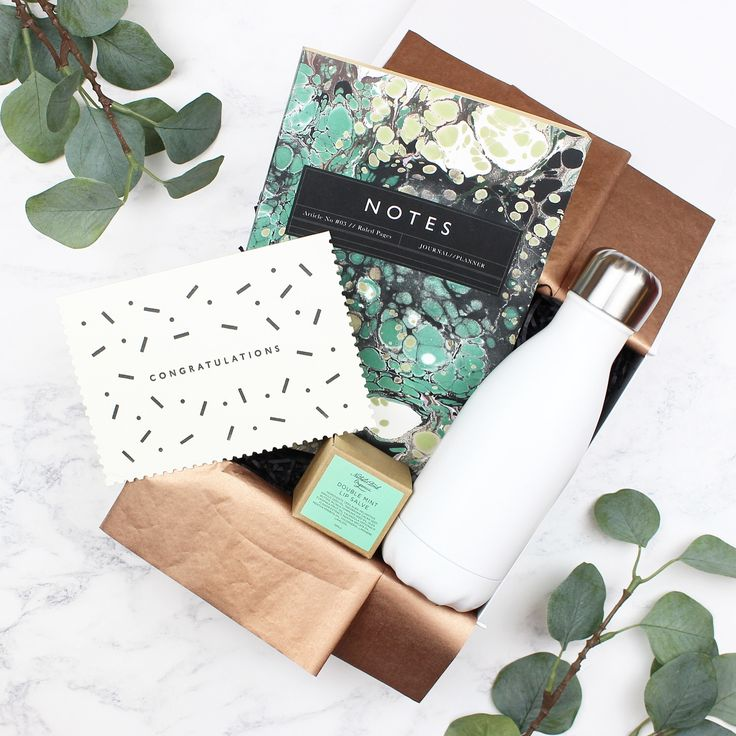 Whether it's for passing exams or starting a new job then this congrats gift is a great way to say well done! #congrats #giftsforher #buorx #buorxboxes #congratulations #katieleamon #chillysbottles #marble #women #lipsalve #green #newjob #nathaliebondorganics #notebook #waterbottle #greetingcards #bestgift #giftshop #bestgiftever #customgifts #gift #gifts #luxury #luxurylife #hampers #giftboxes #giftbox #giftideas #buildabuorxbox #packaging
