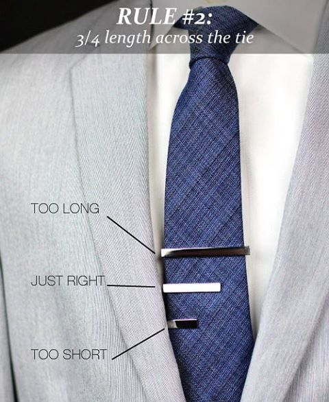 Whether your wearing it skinny or a full out wall street tie, it's important to know the limit of your tie bar/clip size.