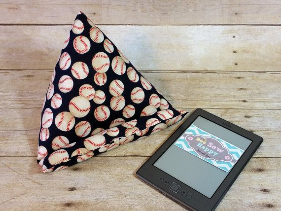 iPad Stand ~ Baseball Fabric Tablet Stand ~ Cool iPad Pillow ~ Desk Accesory ~ Tablet Pillow ~ Boys Birthday ~ Cool Gift for Coach