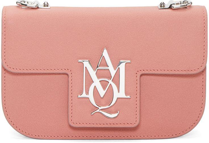 Alexander McQueen - Pink Insignia Cross Body Satchel