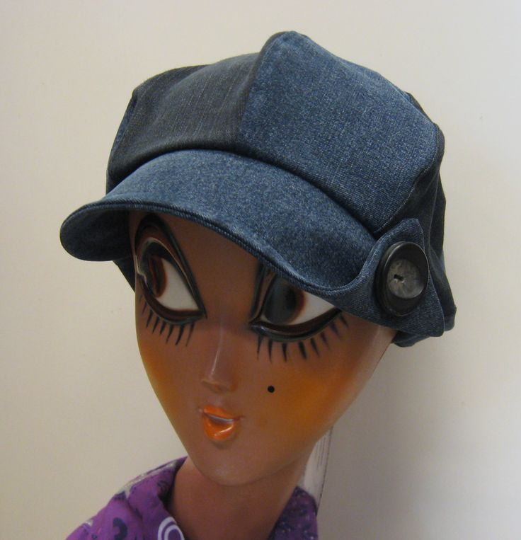 Hat from old recycled jeans