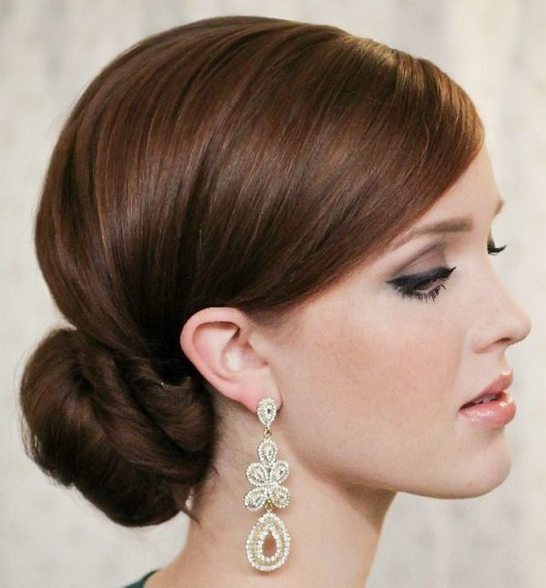 Simple and timeless chignon