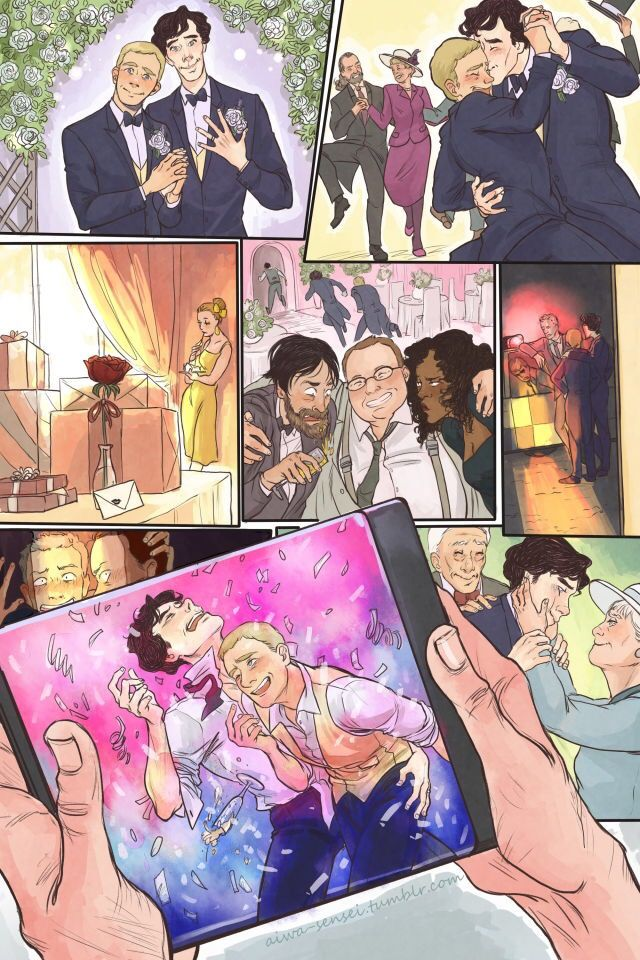 Omg. I just noticed the little Mystrade hint and dear god... this is adorable