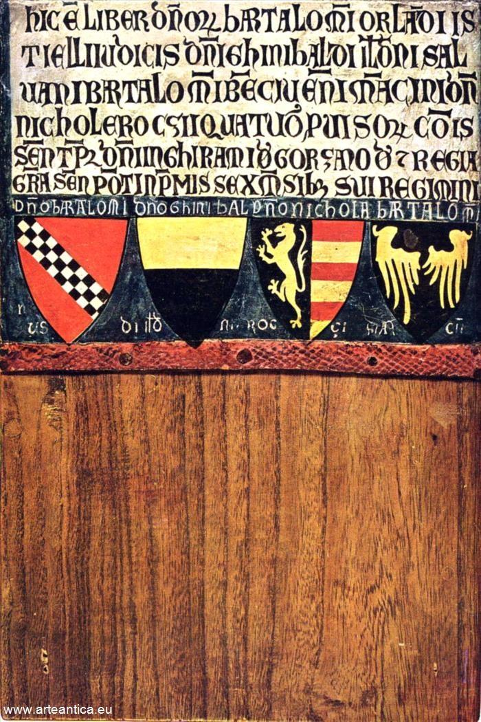 Stemmi dei quattro provveditori del 1263 gennaio/giugno.  Autore: Diotisalvi di Speme. Olio su tavola.