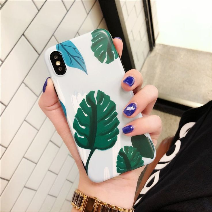 Banana Leaf Painted Phone Case – iPhone Cases For iphone X XS Max XR 6 6S 7 8 plus Free Shipping