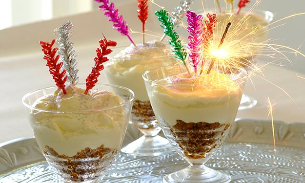 Get the party started with these Sparkling Party Cheesecakes! You will have all your guests in awe when you bring these out!