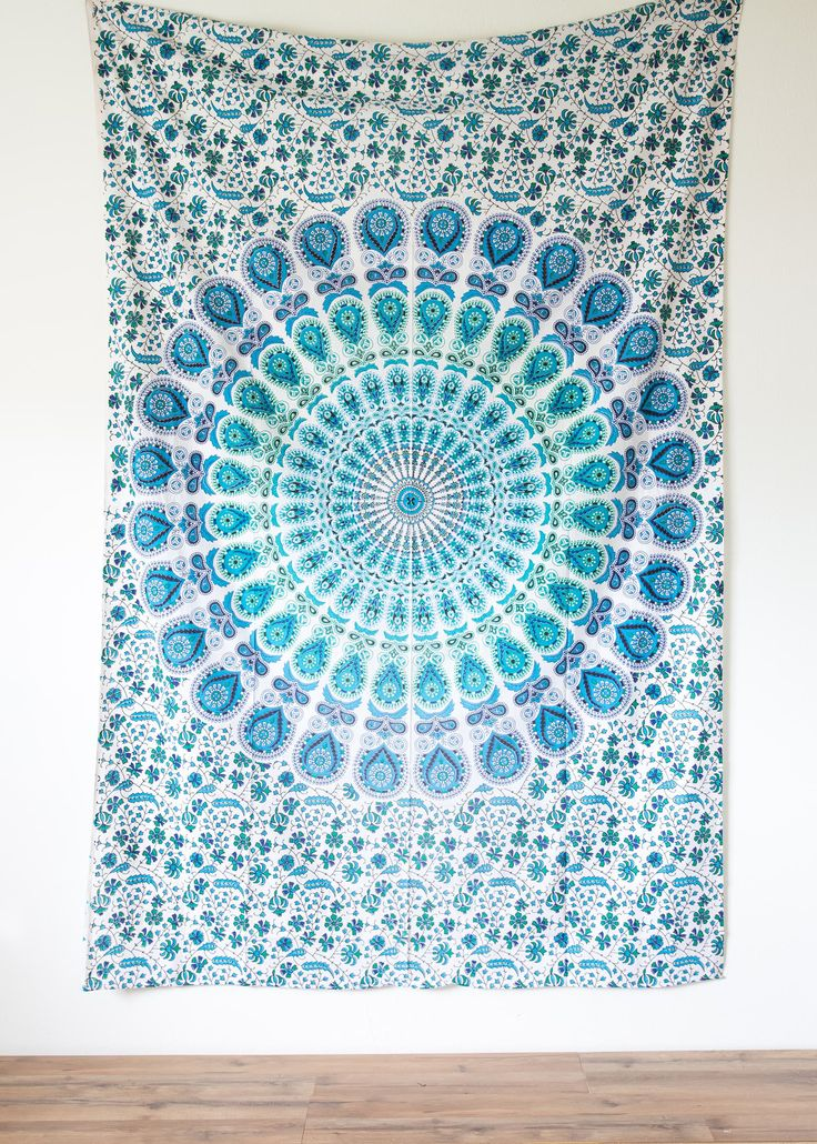 Small Emerald Ocean Tapestry from The Bohemian Shop