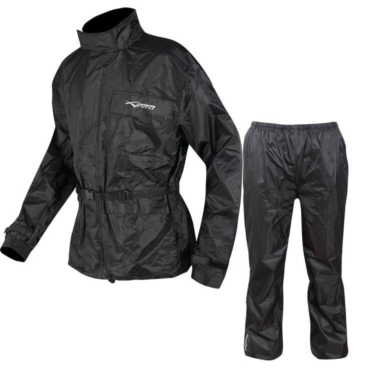Waterproof Motorbike Motorcycle Over 2 pc Rain Suit Trouser Jacket Scooter #APRO