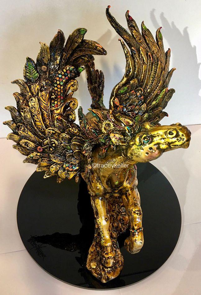 Pegasus 11 | Tracey Keller BRONZE Pegasus Sculpture