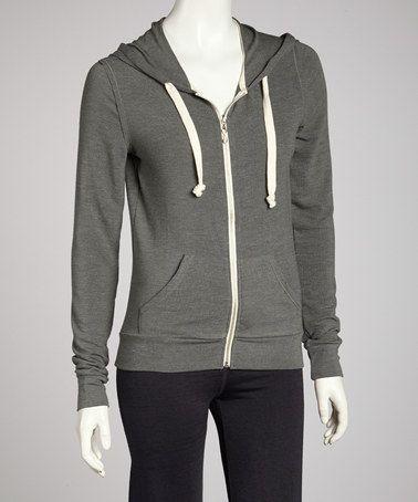 Take a look at this Hunter Green Heathered Zip-Up Hoodie by Seven7 on #zulily today!