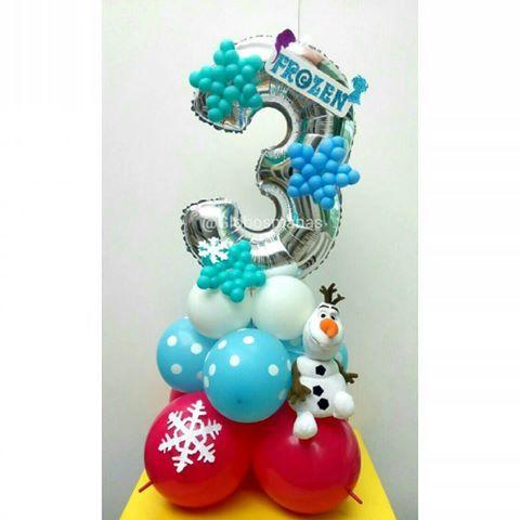 Los 3 añitos de la princesa ☃❄  #arreglosconglobos #detalles  #regalo #original #gifts #cumpleaños  #felicidades #frozen #olaf  #detalle  #numero  #números #globos  #balloons  #balloon #venezuela #venezolanosenelexterior #handmade  #hechoamano #hechoenvenezuela  #coposdenieve  #centrodemesa  #globos #snowflake