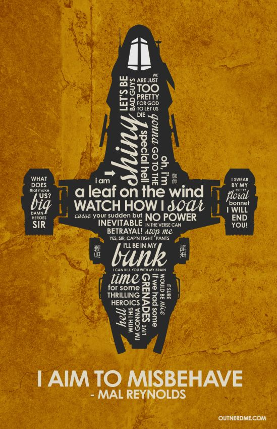 Firefly Serenity Inspired Quote Poster by outnerdme.deviantart.com on @deviantART