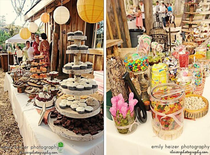 Buffet Table Ideas Wedding Reception: Dessert Only Wedding Reception Ideas