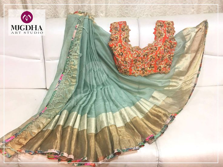 Stunning Organza Saree with an heavy work Blouse!Up for Grabs!! Ready to Ship!!!Product Code: Sc232For Orders :+91 8142029190 / +91 9010906544 designersarees organzasarees indiansarees 16 December 2016