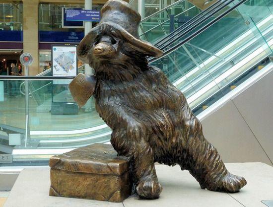 "Stop by Paddington Station in London to say ""Cheers!"" to Paddington Bear"