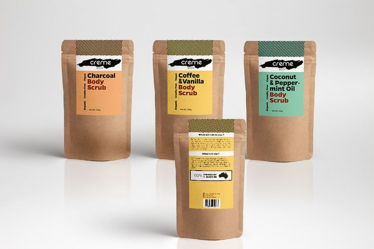 Create Print and Packaging Designs for a body scrub