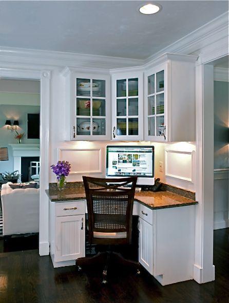 Desk In Dining Room