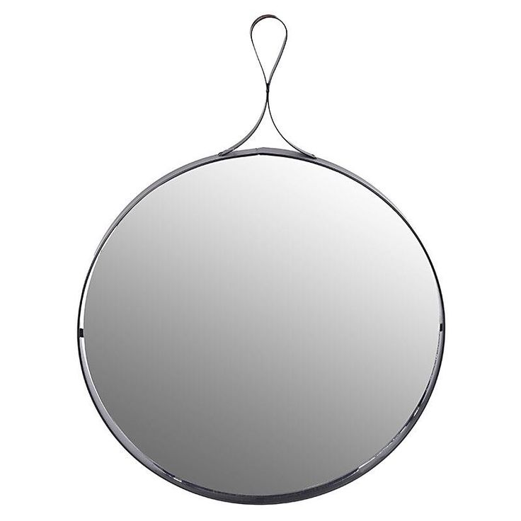 METAL WALL MIRROR IN BLACK COLOR 30X3X30/44 - MIRRORS - inart
