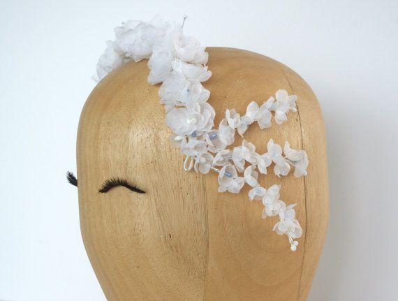 RESERVED Custom wedding headpiece/ Vintage style/ Floral headpiece/ Wedding headband/ Millinery headpiece / Bridal floral crown
