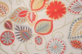 Hamilton Funky Leaf Tapestry Upholstery Fabric in Multi $34.95 per yard