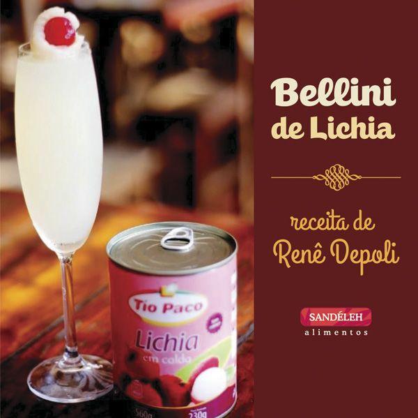 Bellini de Lichia http://sandelehalimentos.com.br/blog/receita-bellini-de-lichia/