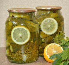Нам понадобится на одну банку объёмом 1 литр: Огурцы ~12 штук небольшие Тонкий кружок лимона Рецепт: Маринад: 0,5 литра воды 20 гр крупной соли 75 гр сахара Лимонная кислота – 0,5 ч.л. Приготовл…