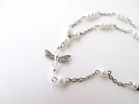 White anklet chain anklet toering anklet by APlusJewelryCrafts