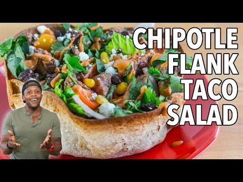 Chipotle Flank Steak Taco Salad (UPDATED 09/09) | Fit Men Cook