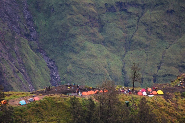 Camp area, Mt. Rinjani, Indonesia
