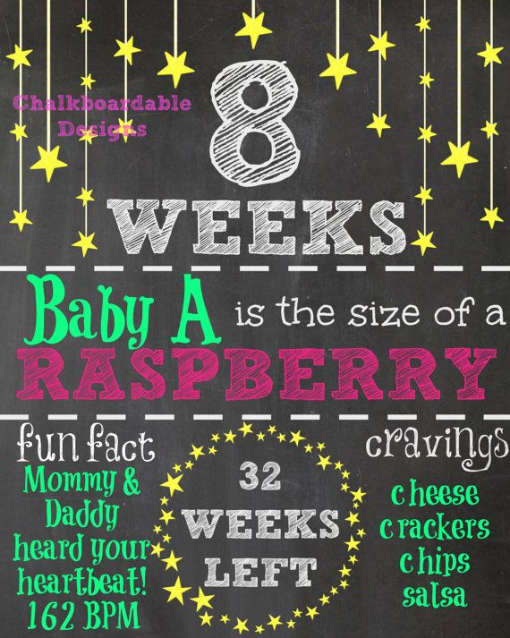Personalized Pregnancy Countdown Chalkboard Printables!