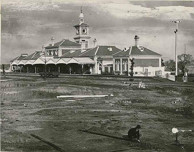 Railway Station - Albury, ca. Dec 1881