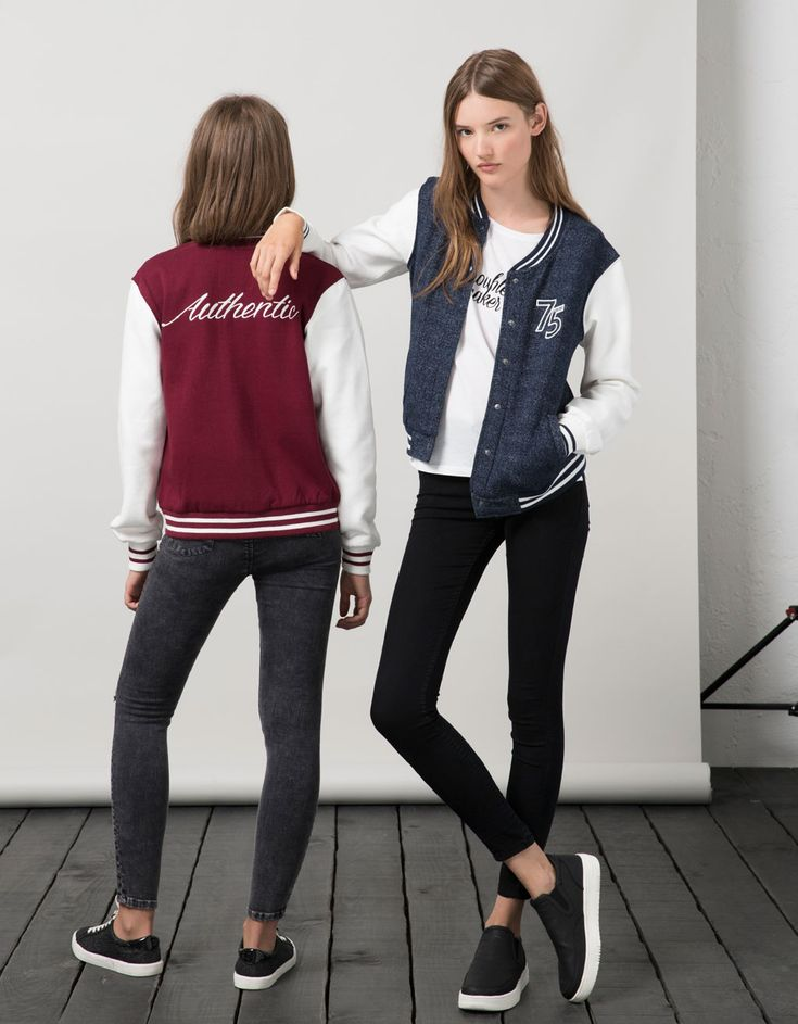 BSK patch baseball jacket - Coats & Jackets - Bershka Serbia