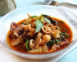 Thai Recipes, Easy Recipes, Thai Basil, Easy Asian, Basil Squid