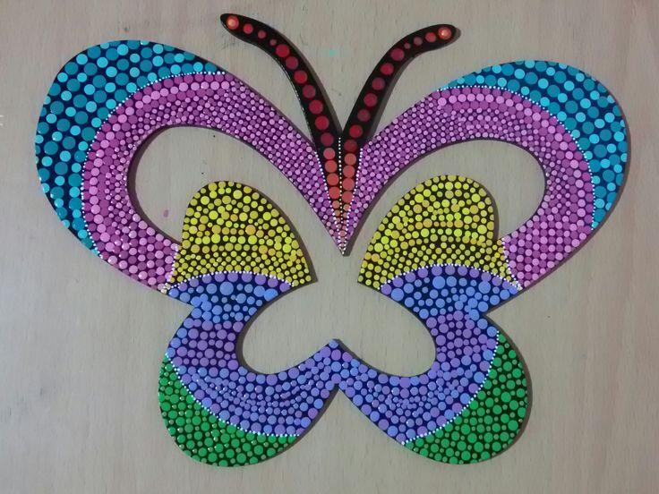 Puntillismo: Mariposa