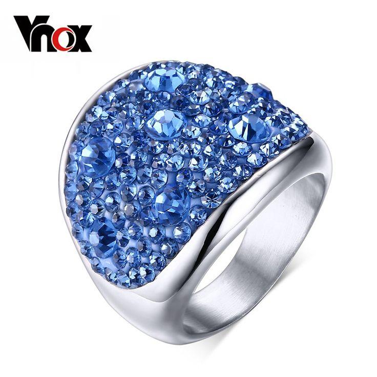 Модные кольца с кристаллом для женщин, много цветов, горный хрусталь, нержавеющая сталь, для свадьбы, для женщин, ювелирные изделия для подростков
