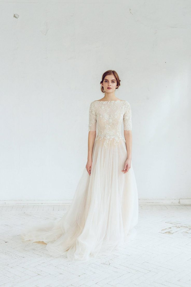 A-line Beaded Wedding Dress - Chic Vintage Brides : Chic Vintage Brides