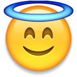The Smiling Face with Halo Emoji on iEmoji.com