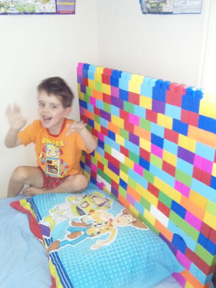Lego Bedhead made from Duplo Blocks