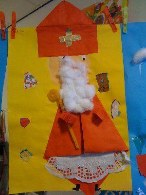Sinterklaas knippen en vouwen