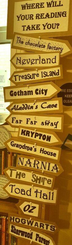 Book area signpost -
