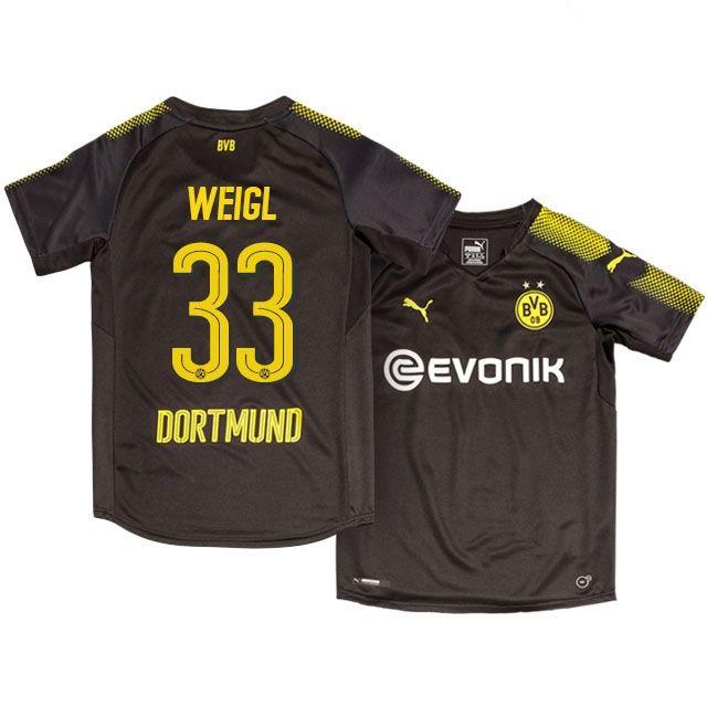 Kids Borussia Dortmund Away Kit 17-18 weigl