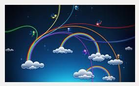 Rainbow Cloud HD Wallpape | cloud and rainbow hd wallpaper