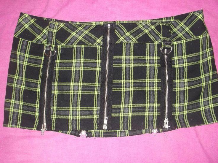 "LIP SERVICE Punk & Disorderly ""Exposure Zips"" mini skirt #46-517"